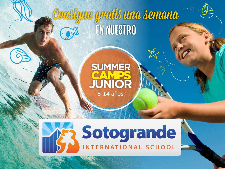 Sorteo de una semana en el programa Junior Camp en Sotogrande International Camps